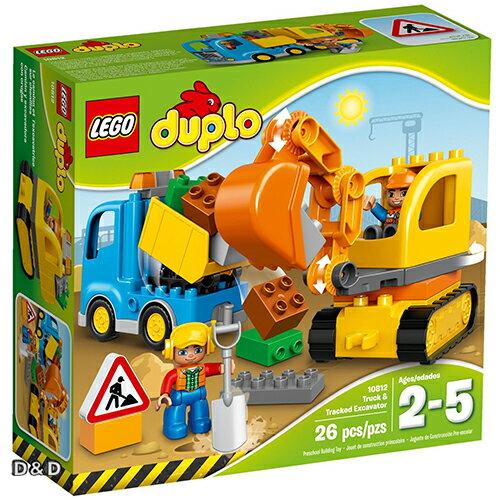 樂高積木LEGO《 LT10812 》Duplo 得寶幼兒系列 - 卡車和履帶挖土機