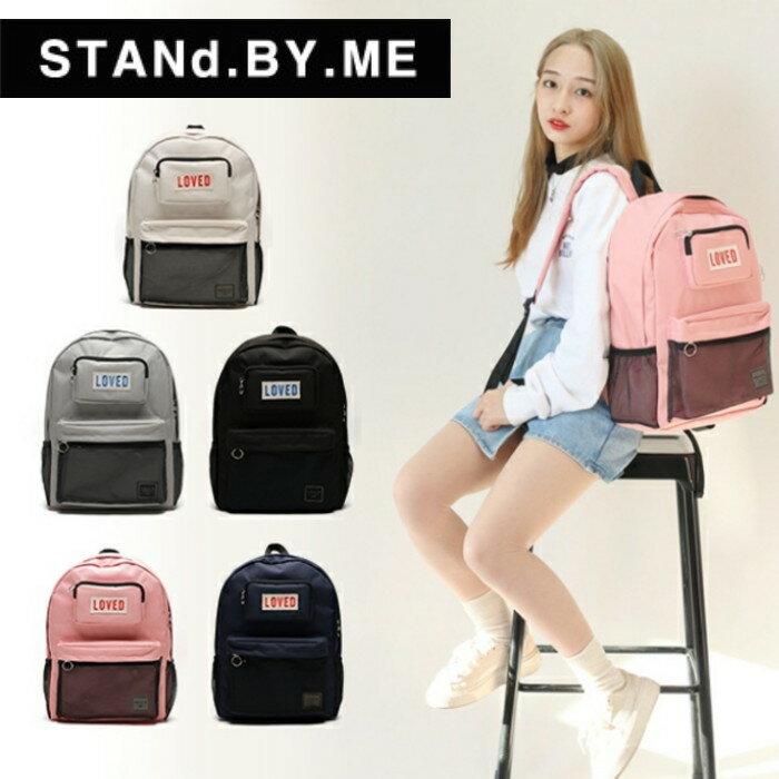 【獨家商品】韓國潮牌 STANd.BY.ME 154 網袋後背包 書包 電腦包 0