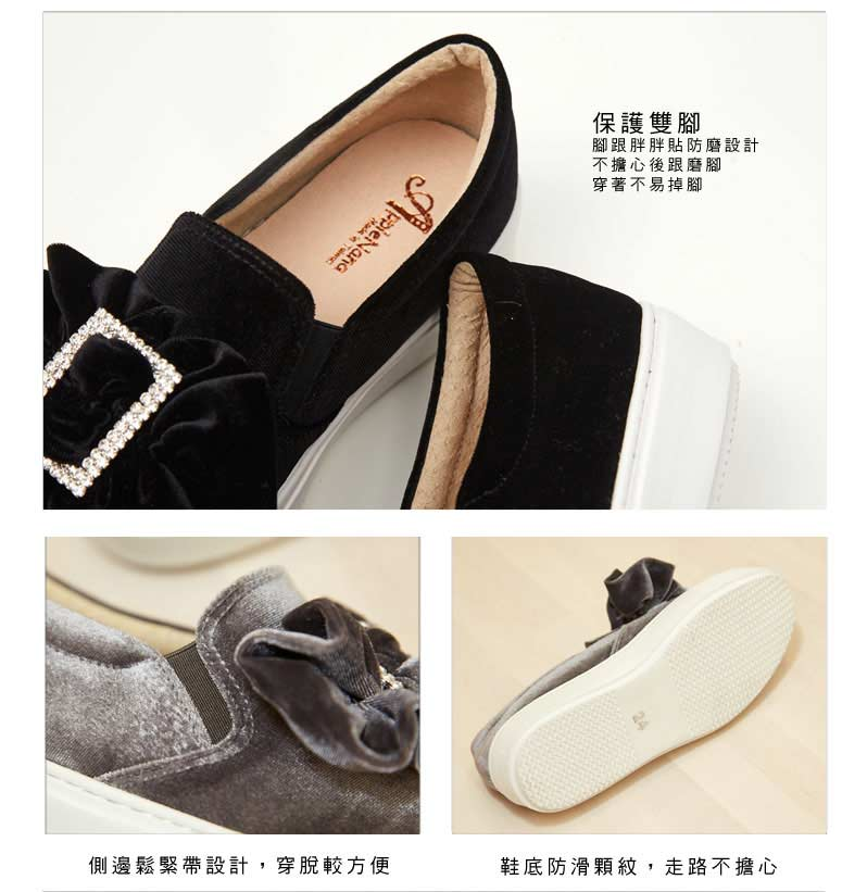 歐系大水鑽釦厚底輕量化氣墊鞋【QCA138791380】AppleNana蘋果奈奈 7