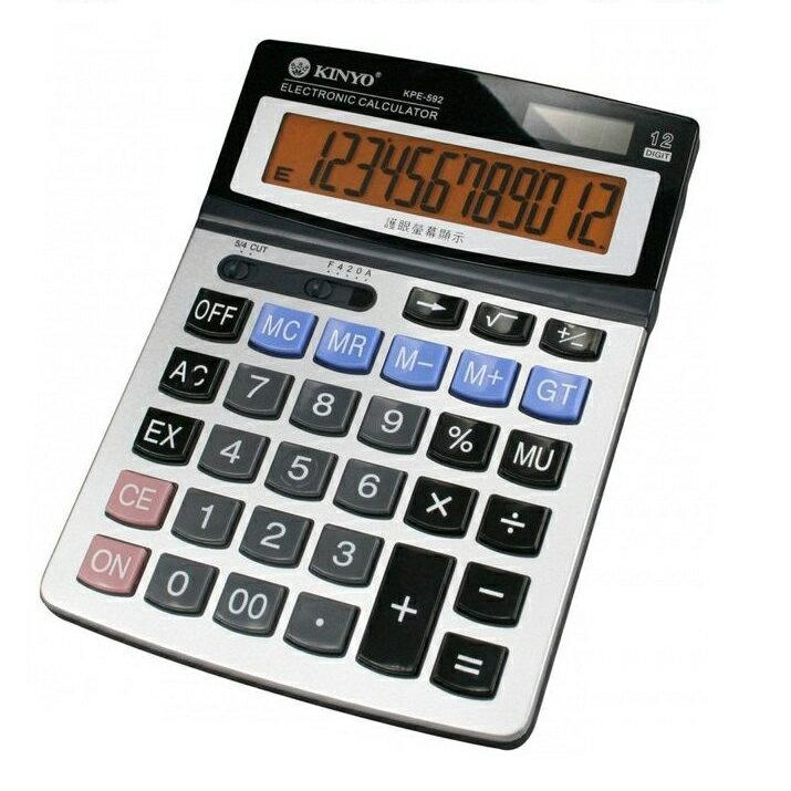 計算機 團購價 KINYO 耐嘉 KPE-592 桌上型護眼計算機 計算機/護眼/桌上型/辦公用品/太陽能/水銀電池