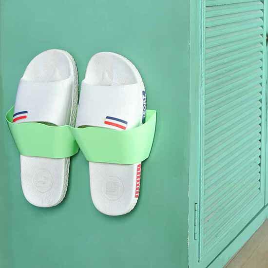 ♚MYCOLOR♚立體壁掛式鞋架家用免打孔防水瀝水客廳臥室浴室收納神器架子曲線款掛壁式收納架【H19】