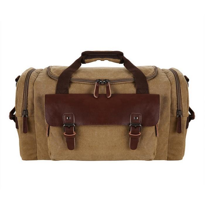 Canvas Duffle Bag Oversized Travel Tote Luggage with Shoulder Strap 0