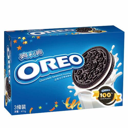 奧利奧OREO巧克力三明治餅乾~原味口味411g~愛買~