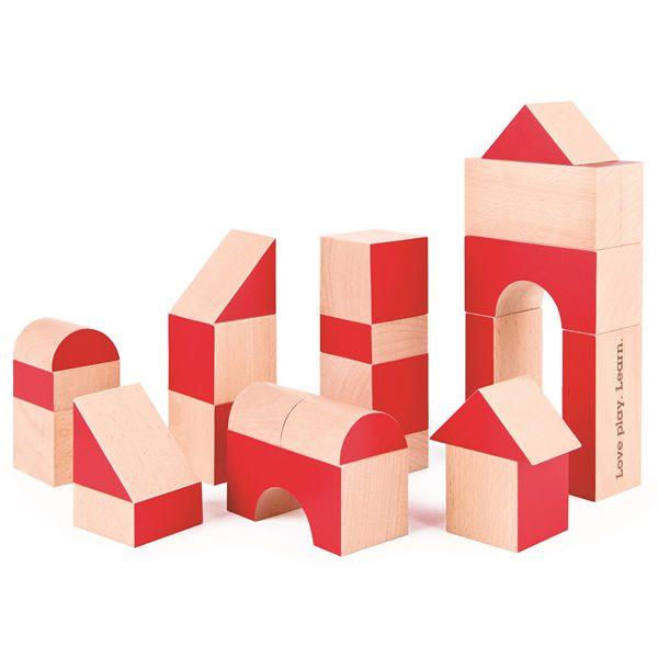~babygo~德國Hape愛傑卡 ~ 彩色 積木組30塊 30周年限定版 E0439