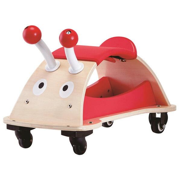 東喬精品百貨商城:【免運費】《德國Hape愛傑卡》四輪轉轉玩具車-瓢蟲