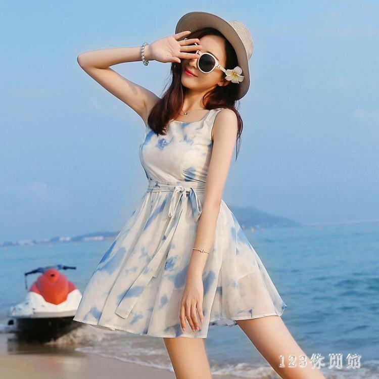 韓版時尚潮流xs夏無袖雪紡洋裝波西米亞海邊沙灘裙小個子女裝顯高店150cmLB13977《小蘿莉》 2