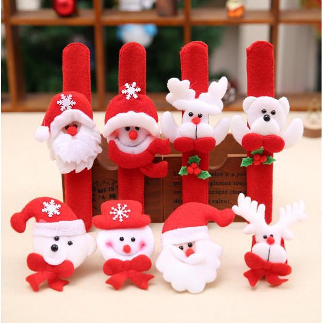 寶貝屋 聖誕節 耶誕節 贈品 禮物 獎品 表演 拍拍圈拍拍手環 聖誕造型拍拍 聖誕拍拍圈 腕帶兒童啪啪圈手錶 聖誕裝飾