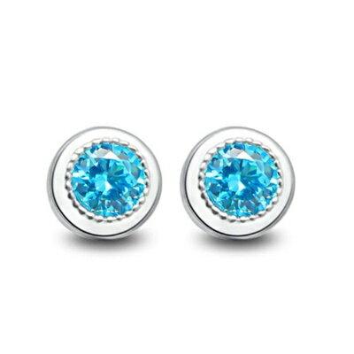 ~925純銀耳環鑲鑽耳飾~簡潔大方耀眼迷人生日情人節 女飾品73dm2~ ~~米蘭 ~