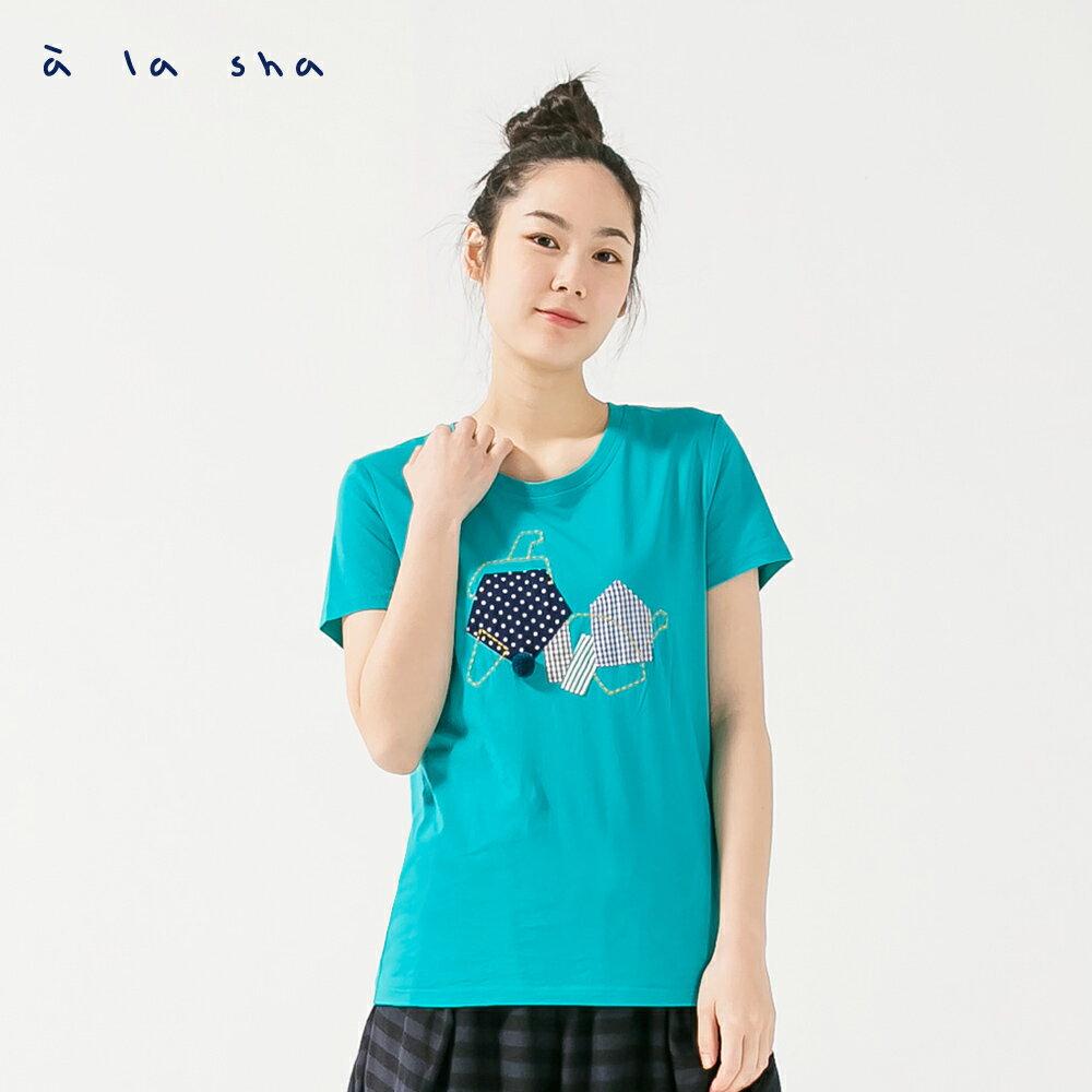 à la sha 大象鼻子好長短袖上衣 2