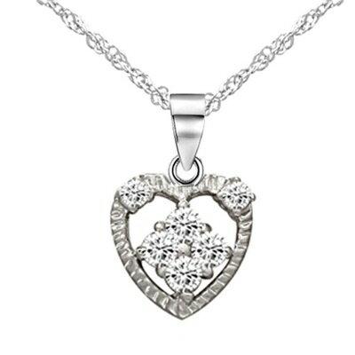 925純銀項鍊 鑲鑽吊墜~ 唯美淡雅母親節情人節生日 女飾品73dk497~ ~~米蘭 ~