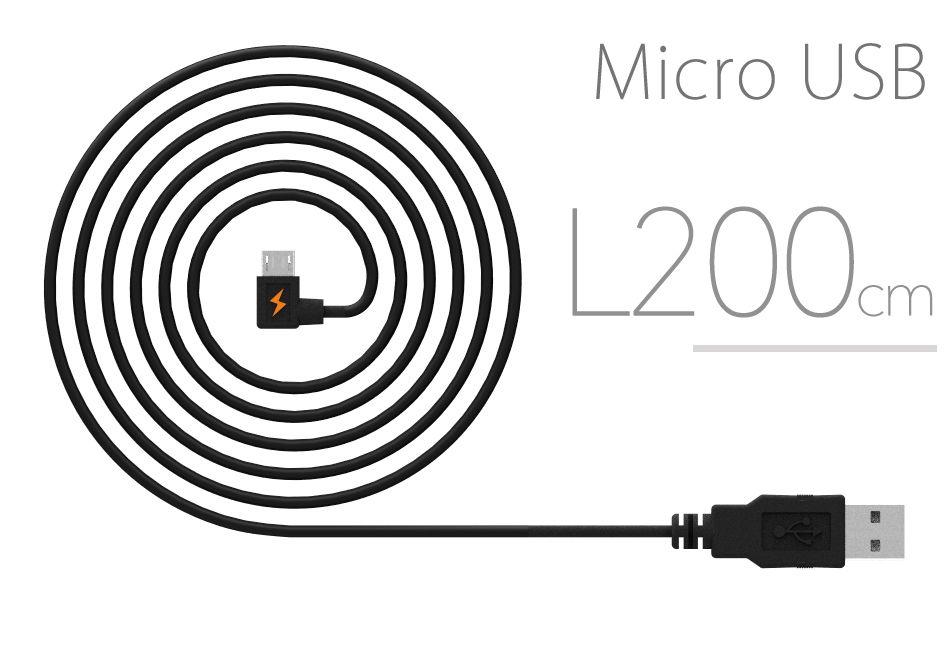 L型接頭-innfact 橘色閃電 Micro USB 快速充電線200cm
