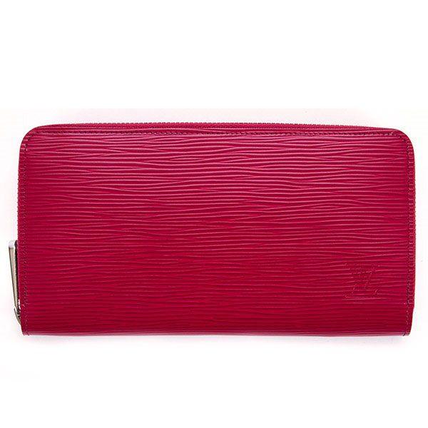 Louis Vuitton LV 水波紋質感M拉鍊長夾-奢華紫紅 (附禮盒)