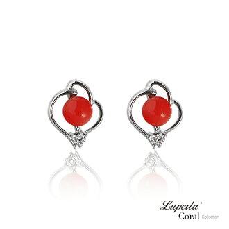 大東山珠寶 好事成雙全紅珊瑚純銀耳環