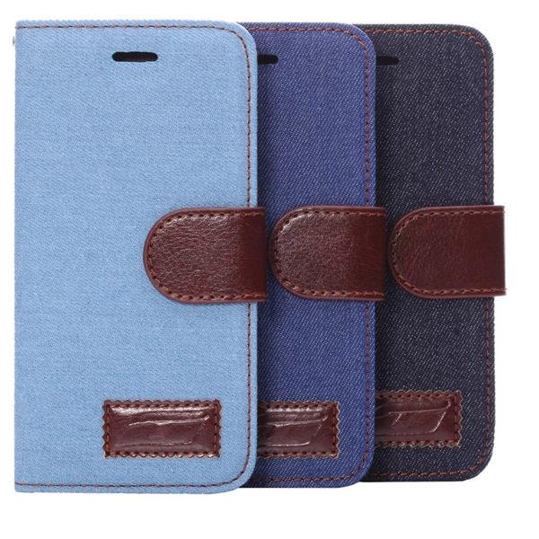 蘋果iphone 6S 4.7吋 保護套 牛仔紋支架插卡皮套 蘋果6S 側翻手機保護殼【預購】