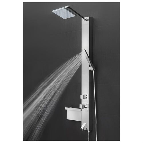 Shower Panel Tower Spa Multi Function Over Head Rainfall Style Head Tub Filler Faucet Wand AKSP0045 1