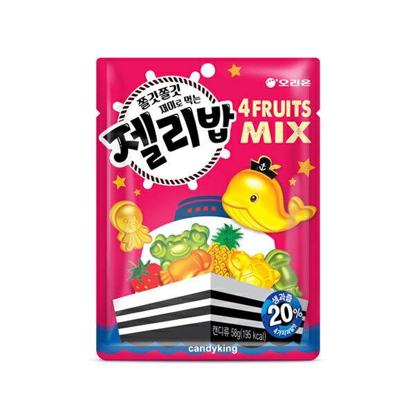 韓國必買糖果 Orion 好麗友 海洋動物造型軟糖 58g