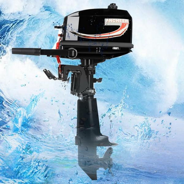 New  6HP Ship Outboard Electric Motor Boat Engine Updated With 2 Stroke Water Cooled 3