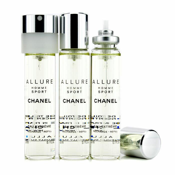Chanel 香奈兒 香奈兒ALLURE男性運動香水 極限版 旅行裝(3個補充裝) Allure Homme Sport Eau Extreme Travel Spray Refills 3x20ml..