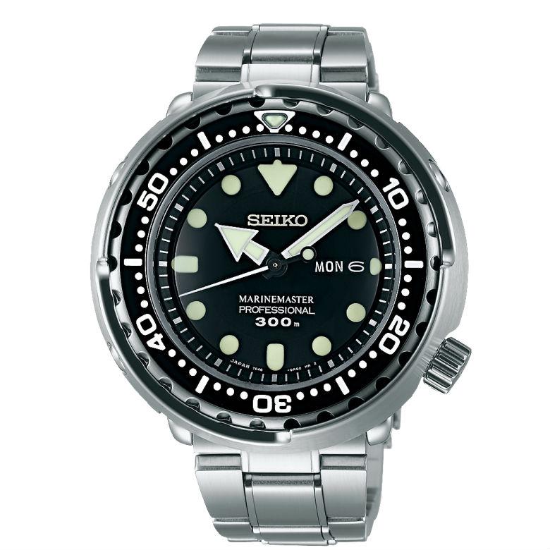 Seiko 精工錶 Prospex 7C46-0AG0C(SBBN031J) 時尚帥氣潛水腕錶/300M防水/黑色面 47.7mm
