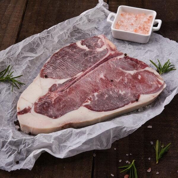 2入美國安格斯黑牛CHOICE丁骨牛排 450g±10%(16oz) 1片 / 包【新鮮物語】 2