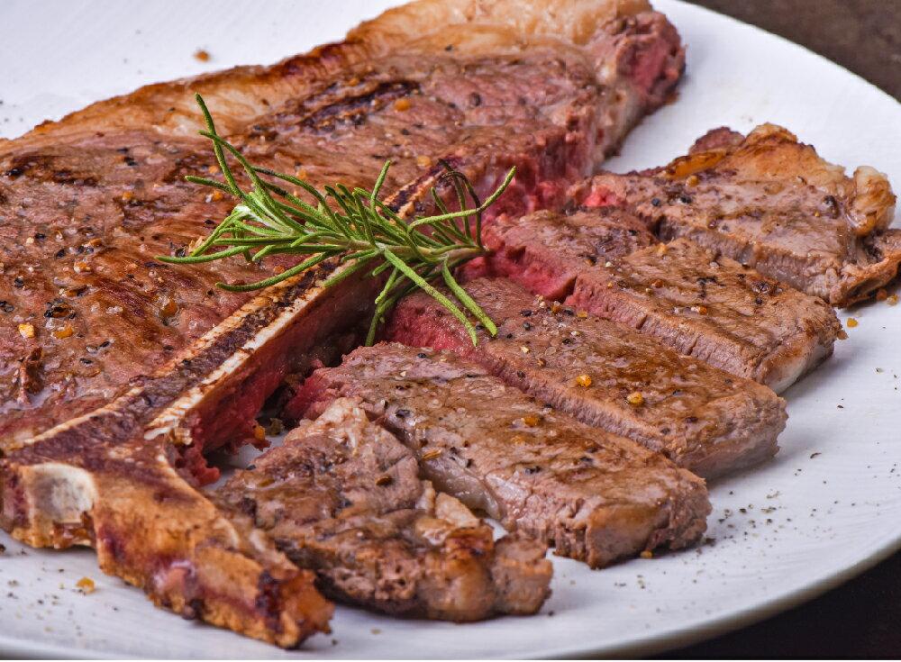 【新鮮物語】美國安格斯黑牛CHOICE丁骨牛排 450g±10%(16oz) 1片 / 包 0
