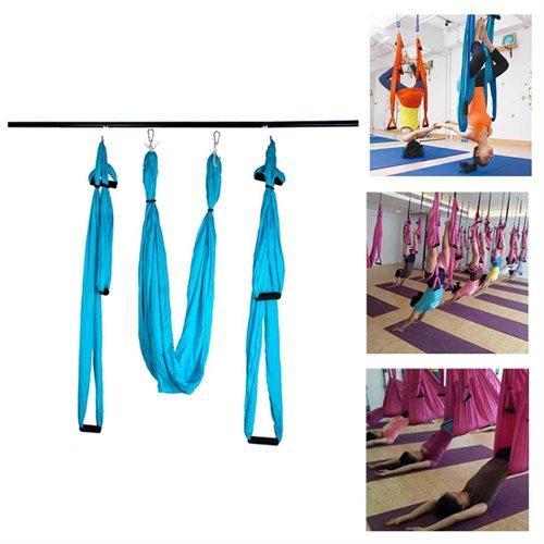 AGPtek Yoga Inversion Swing Sling - Blue 0