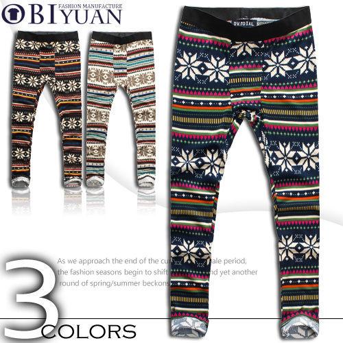 男內搭褲【T2141】OBI YUAN 韓版時尚民族風針織短褲飛鼠褲內搭休閒褲共3色