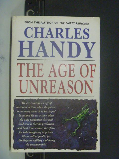 ~書寶 書T8/原文小說_ICB~The age of unreason_Charles