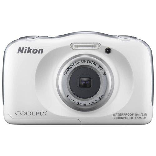 Nikon Coolpix S33 Shock & Waterproof Digital Camera (White) 2