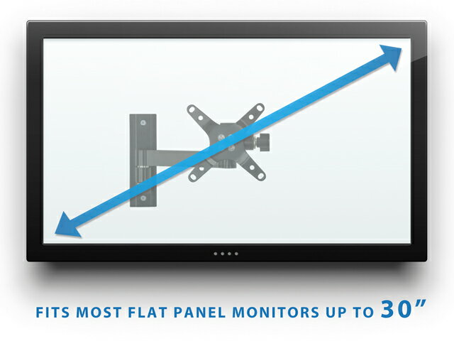 Mount-It! Computer Monitor Wall Mount Arm, Full Motion Tilting Arm For Flat Panel LCD, LED Displays Fits Monitors up to 30 Inches, VESA 75 and 100 Compatible, 33 lb Capacity 4