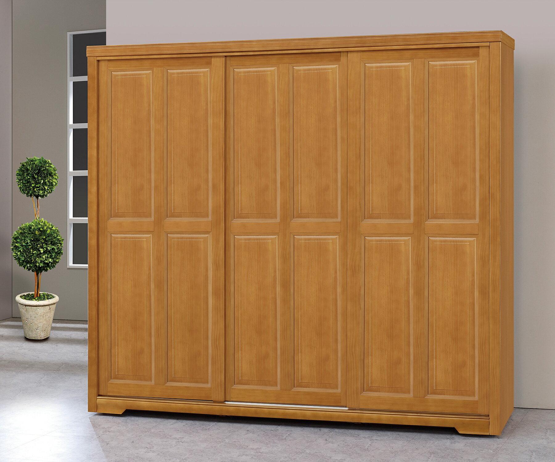 簡單家具,M636-1 靜岡樟木色7.5X7尺衣櫃,大台北都會區免運費