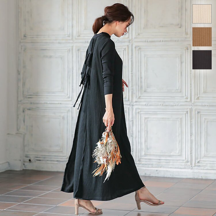日本Kobe lettuce  /  秋冬優雅坑條連身裙  /  e2542  /  日本必買 日本樂天直送  /  件件含運 0