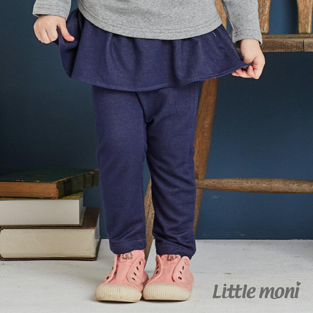 Little moni 針織仿牛仔褲裙-深藍(好窩生活節) 1