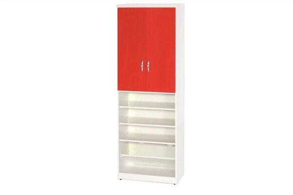【石川家居】888-03(紅白色)鞋櫃(CT-330)#訂製預購款式#環保塑鋼P無毒防霉易清潔