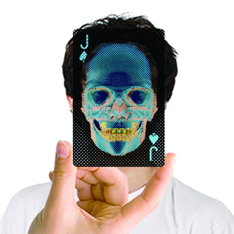 『X-ray』透明X光骷髏撲克牌