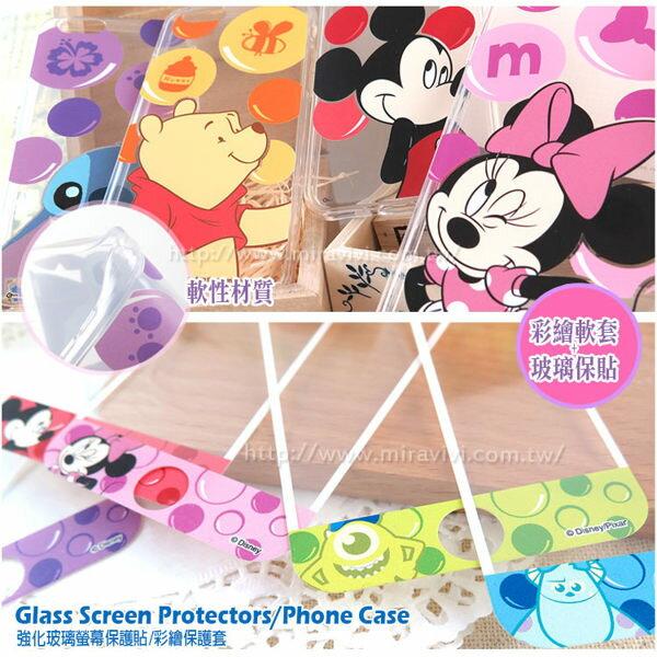 【Disney】[APPLE]泡泡系列玻璃保護貼+彩繪保護軟套[I6,I6S/I6+,I6s+] 3