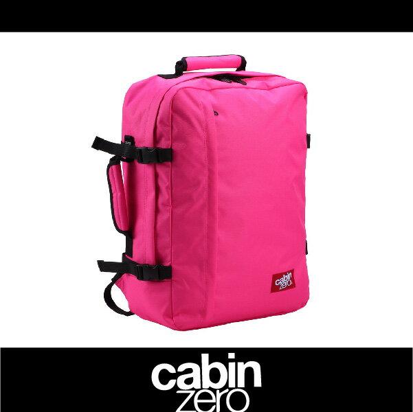 CABIN ZERO 161-CZ061202 輕量44L後背包 登機 假期 公事 手提 多用途 可上密碼鎖 國際背包身分證 桃紅色 萬特戶外運動