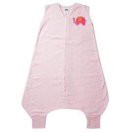 【淘氣寶寶】美國 HALO 防踢睡袍-粉色大象刷毛款4-5T(3-4歲)【美國第一大嬰童睡袍品牌】