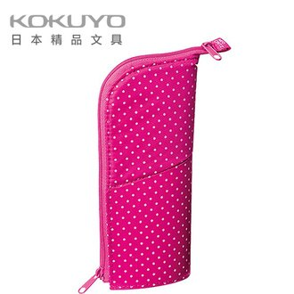 日本 KOKUYO  F-VBF131-1Neo Critz 筆袋 131(雙拉鍊)-粉點/個