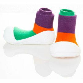 【本月特價$599】韓國【Attipas】快樂腳襪型學步鞋-居家紫 - 限時優惠好康折扣