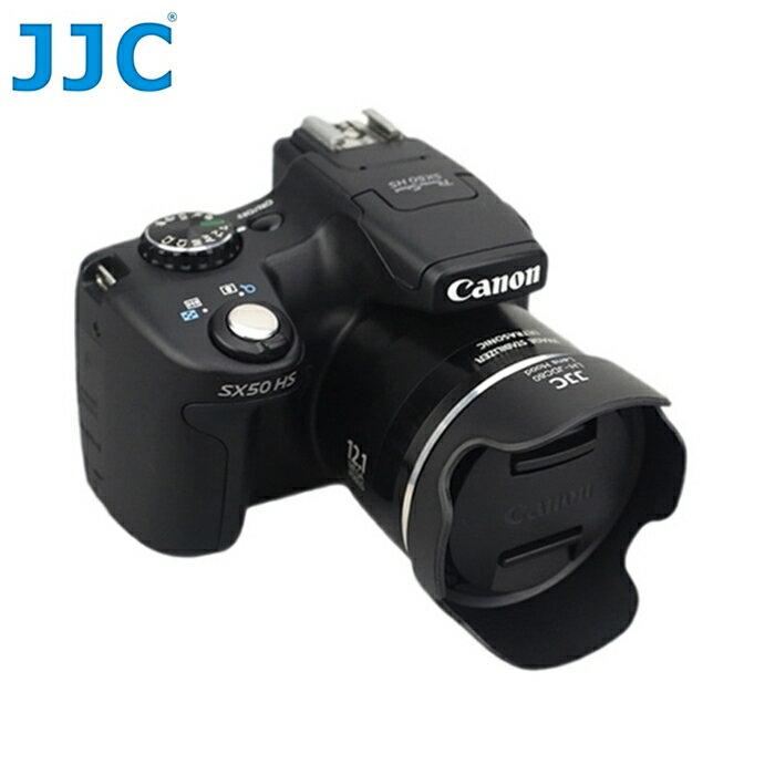 又敗家@JJC副廠Canon遮光罩LH-DC60遮光罩(蓮花式, 可反裝倒扣, 相容Canon原廠遮光罩LH-DC60太陽罩)適SX60 SX50 SX40 HS...