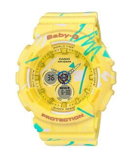 CASIO BABY-G BA-120SC-9A童趣塗鴉雙顯流行腕錶/43.4mm