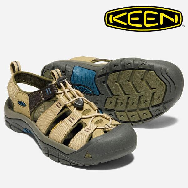 【Keen美國】NEWPORTHYDRO越野護趾涼鞋運動涼鞋男款沙石色(1018813)