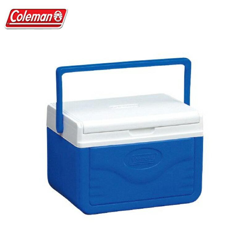 【露營趣】Coleman CM-01355 Take 藍冰箱 保冰桶 手提冰桶 露營冰桶 行動冰桶 野餐籃