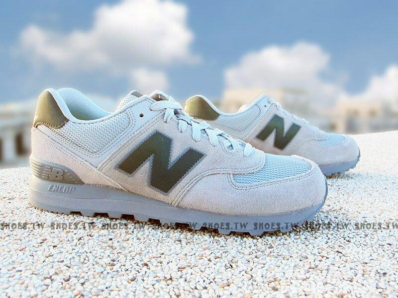 《下殺5折》Shoestw【ML574UWA】NEW BALANCE 574 復古慢跑鞋 灰色 麂皮 反光 男生 0