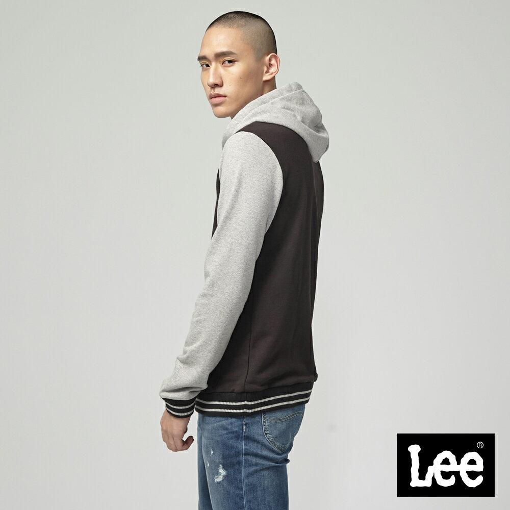 Lee 大LOGO長袖連帽TEE恤 / RG 1