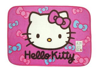 La maison生活小舖《Hello Kitty軟毛地墊腳踏墊》桃紅蝴蝶結繽紛圖案 吸水防滑 觸感柔軟 地墊/軟墊/腳踏墊/止滑墊/吸水墊/軟毛墊