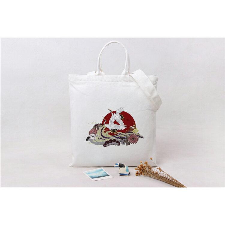 手提包 手提包 帆布袋 手提袋 環保購物袋--手提/單肩/拉鏈【SPA95】 BOBI  10/06 2