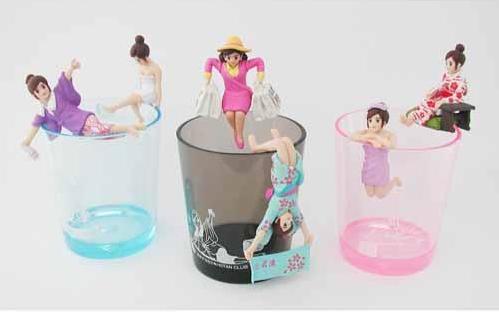 【菲比朵朵】日本最夯溫泉杯緣子小姐扭蛋 隨機6件組(6公仔加6杯子)