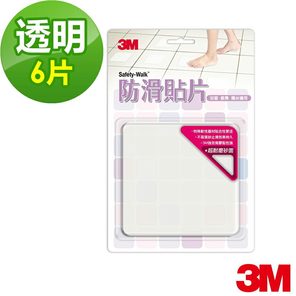 3M 魔利浴室 防滑貼片 透明  6片裝